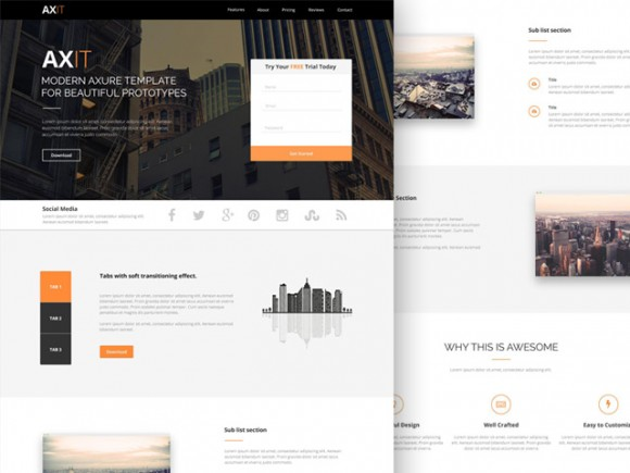 Axit - Free PSD Landing page