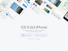 iOS 9 GUI by Facebook for Photoshop and Sketch