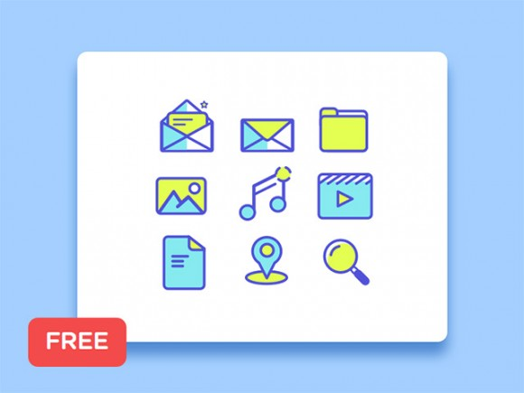 9 Simple line icon for Sketch