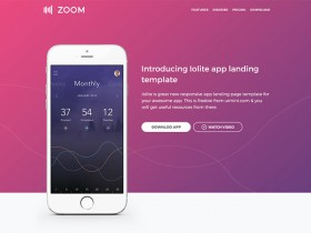 Zoom UI kit - Free PSD