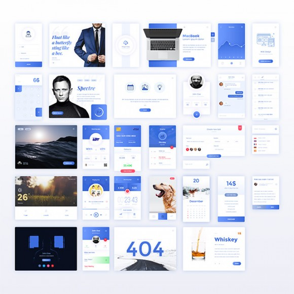 30 free UI kit elements - Full view