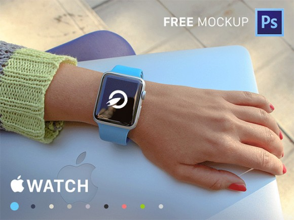 35 Apple Watch PSD mockups