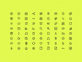 72 free icons in AI, Sketch, PSD and SVG formats