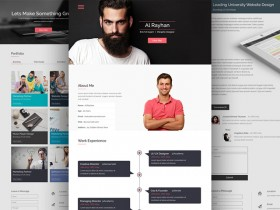 CV / Resume PSD website template
