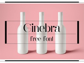 Ginebra: A fashion and elegant free font