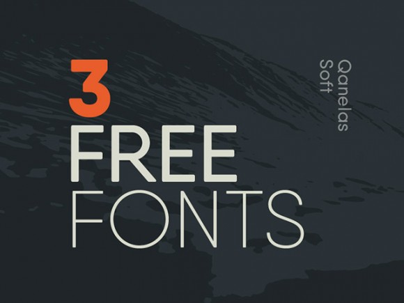Qanelas Soft: 3 Free exclusive font weights