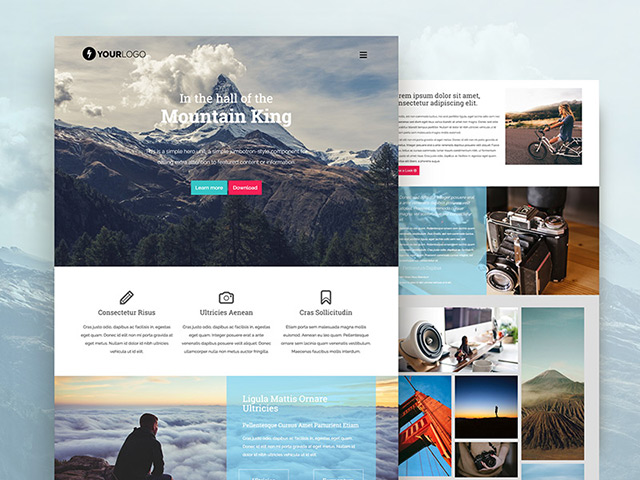 http://cdn.freebiesbug.com/wp-content/uploads/2016/02/mountain-king-bootstrap-free-html-template.jpg