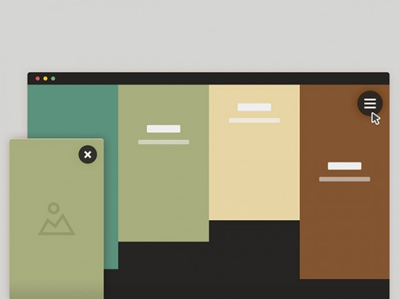 Sliding out panels with HTML & CSS