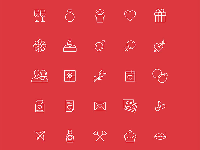 30 free Valentine Day icons