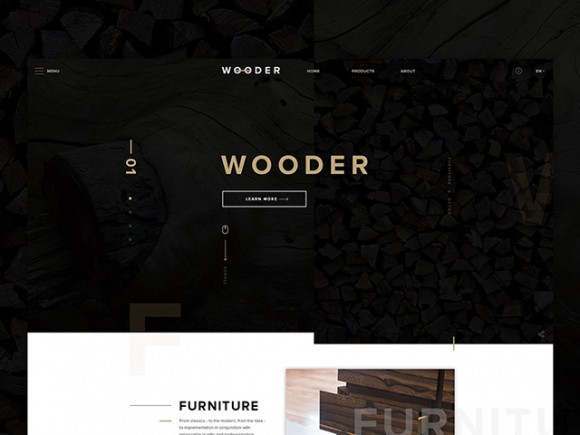 Wooder: PSD Website template for companies