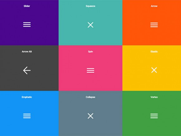 10 CSS hamburger menu effects