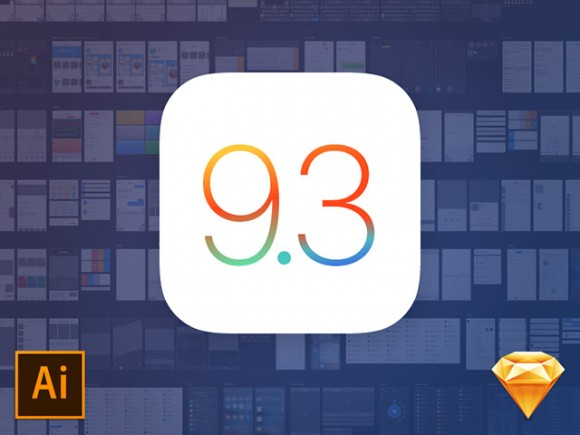 iOS 9.3 UI kit for Illustrator and Sketch