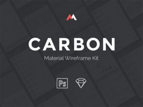 Carbon: Material UI kit for ecommerce apps