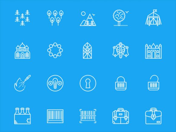 A free set of 200 misc icons by Smashicons