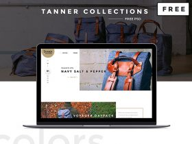 Tanner Collections: Free PSD ecommerce template