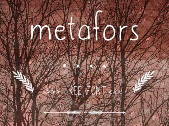 Metafors: A clumsy handwriting font