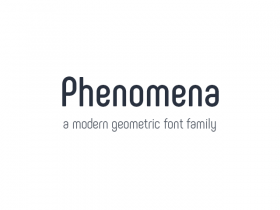 Phenomena: A free font family in 7 weights