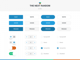 The Next Random: UI kit for Sketch