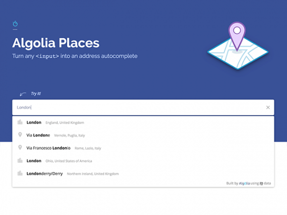Algolia Places: Address autocomplete plugin