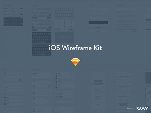 Free iOS Wireframe kit for Sketch