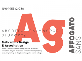 Affogato: Free sans-serif typeface in 5 weights