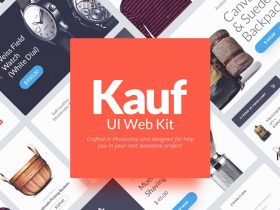 Kauf: Free web UI kit for Photoshop