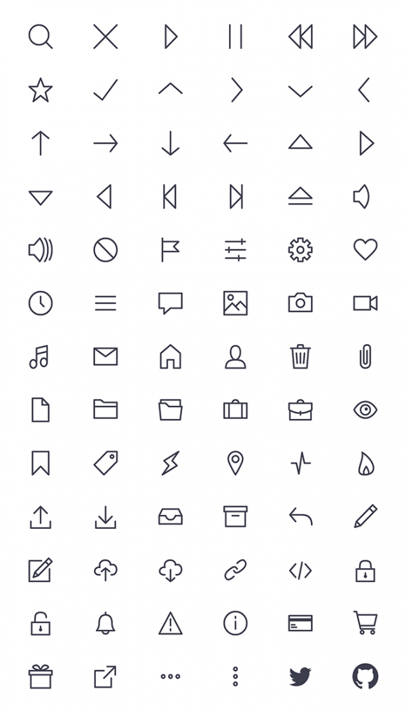 Bytesize icons preview