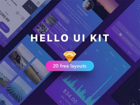 Hello: A free UI kit sample for Sketch