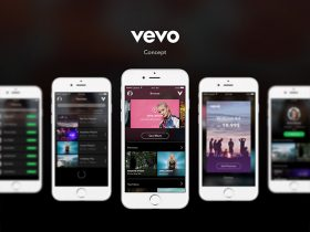 Vevo Concept: Mobile UI kit for Sketch
