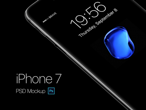 iPhone 7 PSD mockup by Gustav Ågren
