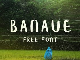 Banaue: Free handwritten brush font
