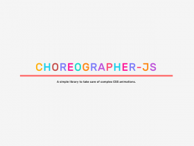 Coreographer.js: A JS library for complex animations
