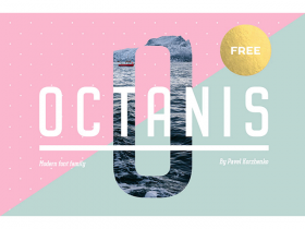 Octanis: A full and free font-family ideal for headlines