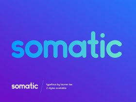 Somatic Rounded: A free font ideal for logotypes
