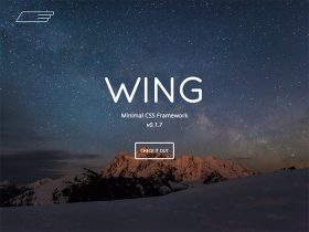 Wing: A lightweight and minimal CSS framework