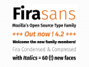 Fira Sans: A new free font family by Mozilla