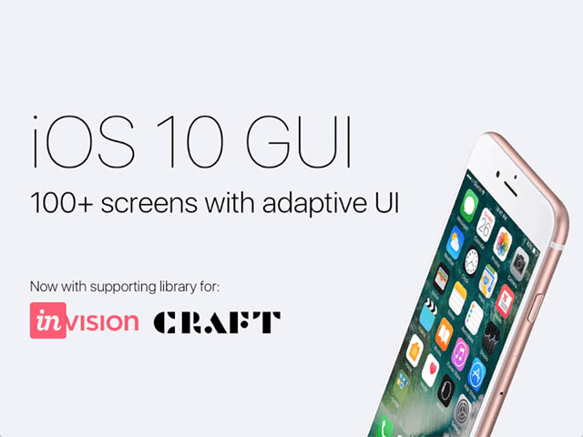 iOS 10 GUI: 100+ screens for Sketch with adaptive UI