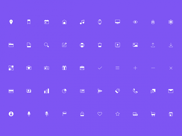 50 Free line icons by Marvel