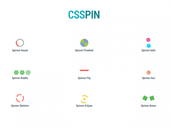 CSSPIN: A collection of 10 CSS spinners & loaders