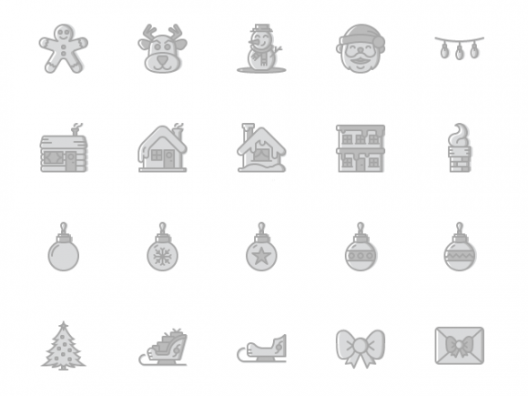 A free set of 100 Ai icons for Christmas