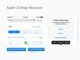 Apple UI Design Resources for Photoshop and Sketch