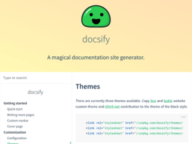 Docsify: A magical documentation generator