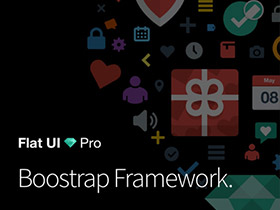 A professional flat-style Design Framework built with Bootstrap.