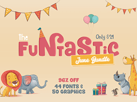 Big Bundle: 44 Fonts & 50 Graphic Packs in at 96% OFF