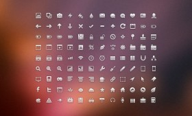 Clean icons free PSD