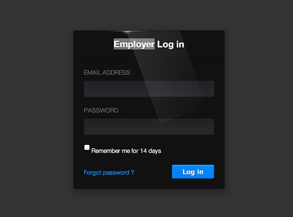 Batman login form css snippet