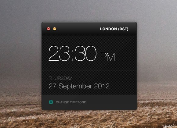 Clock widget free PSD