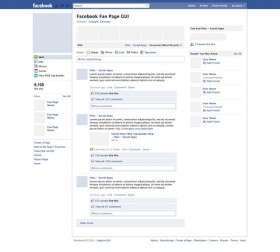 Facebook page PSD freebie