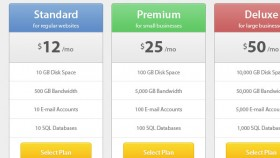 Modern pricing table free PSD