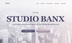 Banx agency psd website template